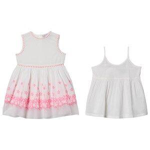 Image of Stella McCartney Kids Embroidered Stars Dress White/Pink 12 years