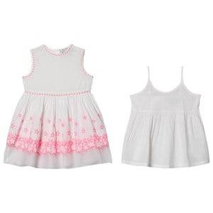 Image of Stella McCartney Kids Embroidered Stars Dress White/Pink 2 years