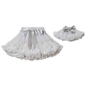 DOLLY by Le Petit Tom Grace Kelly Pettiskirt Silver Grey Medium (6-8 Years)