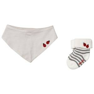 Falke LadyBug Sock and Bib Gift Set 62-68 (1-6 months)