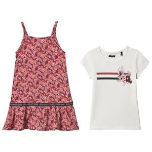 Image of IKKS 2-in-1 San Francisco Floral Print Dress Pink 8 years