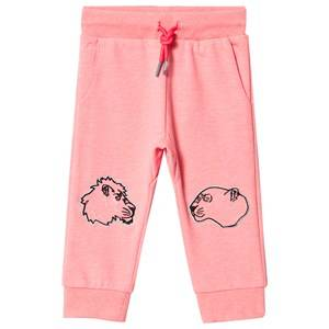 Kenzo Tiger and Friends Embroidered Sweatpants Neon Pink 4 years