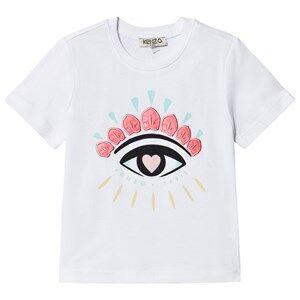 Image of Kenzo Embroidered Eye Logo Short Sleeve Tee White 4 years