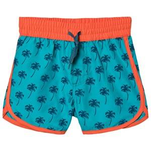 Hatley Tropical Palms Swim Shorts Baltic 7 years