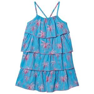 Hatley Tropical Palms Dress Blue 4 years