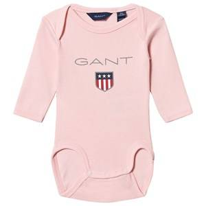 Image of GANT Pink Large Shield Long Sleeve Baby Body 56cm (1-2 months)