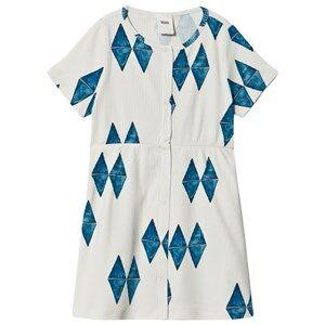 WAWA Wama Print Lava Dress Off White 5-6 Years