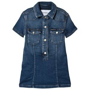 Image of Calvin Klein Jeans Mid Wash Denim Shirt Dress 8 years