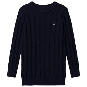 GANT Cable Knit Jumper Navy 134-140cm (9-10 years)