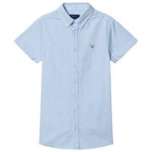 GANT Short Sleeve Oxford Shirt Blue 134-140cm (9-10 years)