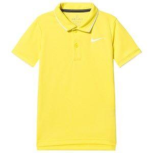 Image of NIKE Dri-Fit Tennis Polo Shirt Yellow XS (6-8 years)