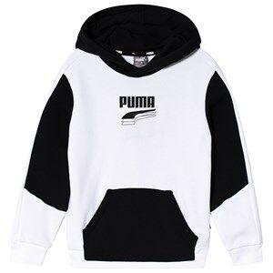 Puma Rebel Hoodie White/Black 3-4 years