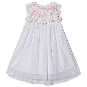 Image of Billieblush Flower Detail Dress White 6 years