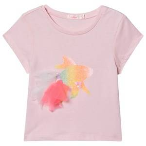 Image of Billieblush Rainbow Fish Print Tee Pink 2 years