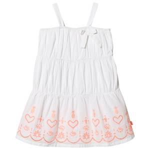Image of Billieblush Embroidered Strap Dress White 2 years
