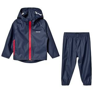 Tretorn Kids Packable Rain Set Navy 98/104 cm