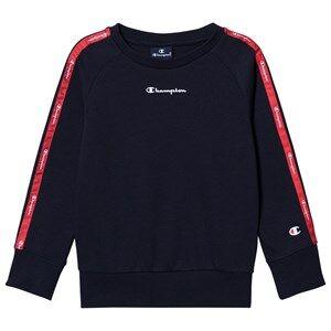 Champion Logo Tape Sweatshirt Navy 9-10 years