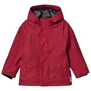 Hunter Original Lightweight Rubberized Jacket Military Red Raincoats