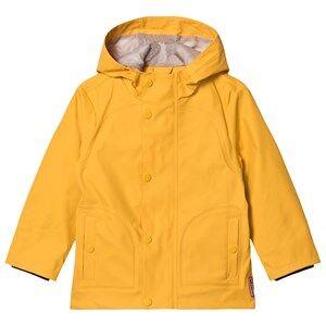Hunter Original Lightweight Rubberized Jacket Yellow Raincoats