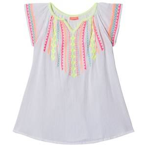 Image of Sunuva Embroidered Cheesecloth Dress White 5-6 years