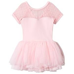 Image of Mirella Cap Sleeve Tutu Dress Spot Mesh Pink 6-7 years