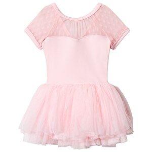 Image of Mirella Cap Sleeve Tutu Dress Spot Mesh Pink 8-10 years