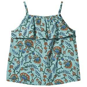Image of Cyrillus Floral Print Figue Tank Top Blue 6 years