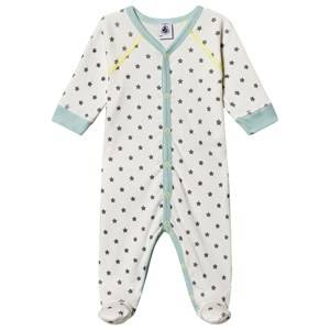 Image of Petit Bateau Dors Bien Footed Baby Body Marshmallow/Gris 24 months