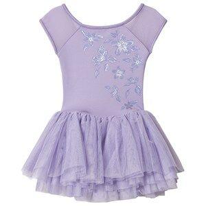 Image of Bloch Metallic Print Tutu Dress Lilac 8-10 years