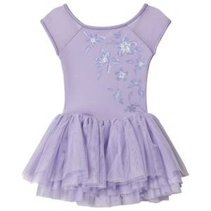 Image of Bloch Metallic Print Tutu Dress Lilac 2-4 years