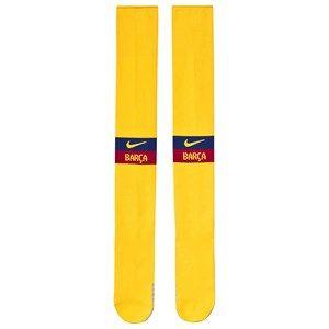 Image of Barcelona FC FC Barcelona Stadium Soccer Socks Yellow 42-46 (UK 8-11)