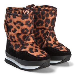 Rubber Duck Print Orange Boots Snow boots