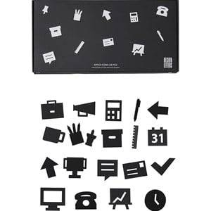 Design Letters Office Icons for Message Board Black (20 Pack) Wall stickers and art