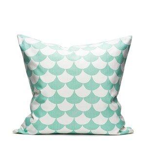 Littlephant Decoration Cushion Big Waves  White/Aqua
