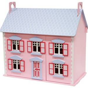 STOY Pink Dollhouse with Furniture