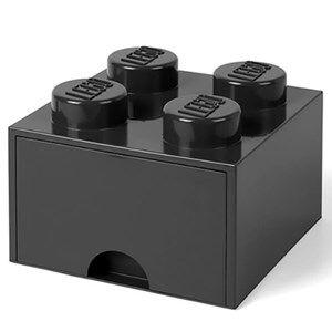 Lego Storage Lego Brick Drawer (4 Knobs) Black