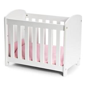 STOY Dolls Wooden Cot White