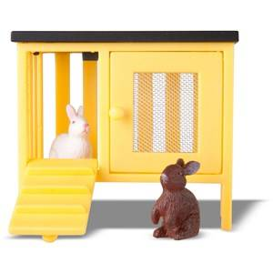 Lundby Dolls Two Rabbits and Hutch Set
