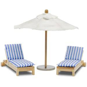 Lundby Accessories Stockholm Sun Bed and Parasol Set