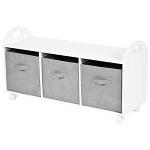 JOX Toy Storage with Compartments White/Grey