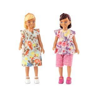 Lundby Dolls Two Girls Doll Set