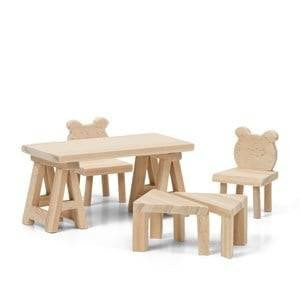 Lundby Creative DIY Table and Chairs Doll House Furniture Set