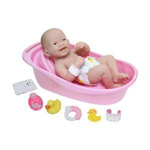 JC Toys La Newborn Doll and Bathtub