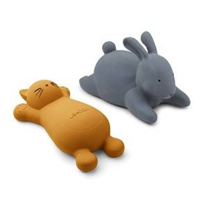Liewood 2-Pack Vikky Bath Toys Cat/Mustard
