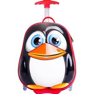 Best Time Toys Penguin Suitcase Black Holdalls