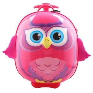 Best Time Toys Owl Suitcase Pink Holdalls