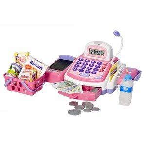 Best Time Toys Cash Register Pink/White