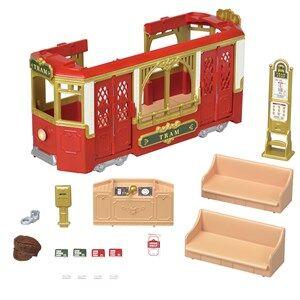 Sylvanian Families Ride Along Tram Set
