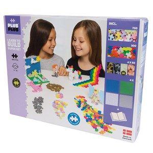 Image of Plus-Plus 1200-Piece Plus-Plus Pastel Learn To Build Super Set