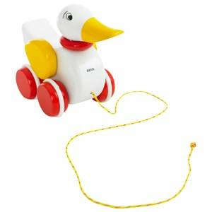 Brio Unisex First toys and baby toys White Pull-Along Duck White